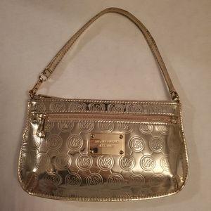 MICHAEL KORS Mirror Gold Clutch/Wristlet